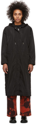 Kenzo Black Waterproof Parka Raincoat