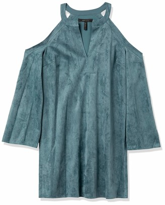 BCBGMAXAZRIA Azria Women's Laguna Faux-Suede Cold-Shoulder Dress