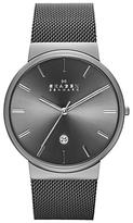 Skagen Skw6108 Ancher Stainless Steel Mesh Bracelet Strap Watch, Silver Grey