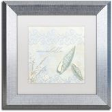 Trademark Fine Art She Sells Seashells II Framed Wall Art