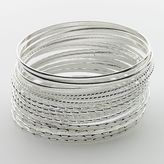 So ® silver tone bangle bracelet set