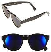 Illesteva Women's 'Leonard' 47Mm Sunglasses - Black/ Violet