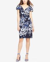 Lauren Ralph Lauren Petite Floral-Print Surplice Dress