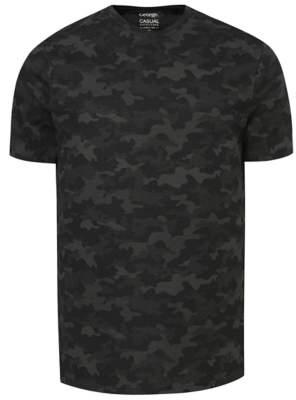 George Grey Camo Print T-Shirt