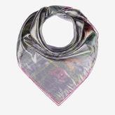 Bally Tartan Printed Carré Multicolor, Women's silk blend scarf in multi-colour