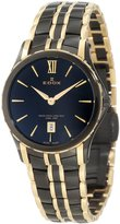 Edox Women's 26025 357JN NID Grand Ocean Black and Gold PVD Stainless Steel Watch