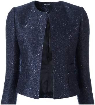 Tagliatore sequin embellished cropped jacket