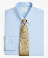 Brooks Brothers Stretch Milano Slim-Fit Dress Shirt, Non-Iron Twill Button-Down Collar