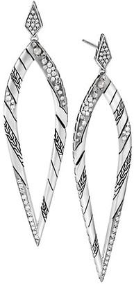 John Hardy Lahar Diamond & Sterling Silver Teardrop Earrings