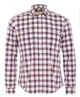 Barbour International Steve McQueen Sanford Mens Shirt Navy Red Check