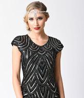 Silver Gatsby Rhinestone Flapper Headband