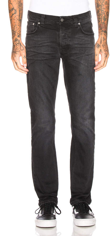 Nudie Jeans Grim Tim in Dusty Black | FWRD