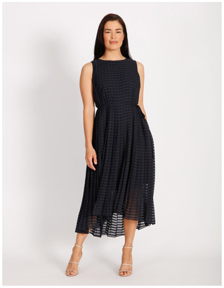 Trent Nathan Pleated Trapeze Dress