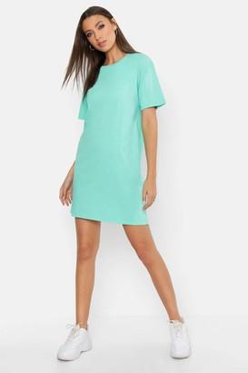boohoo Tall Acid Wash T-shirt Dress