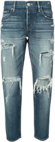 Moussy distressed cropped jeans - women - Cotton - 29