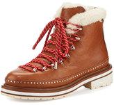 Rag & Bone Compass Shearling Fur-Lined Hiking Boot, Tan