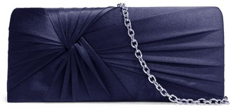 Badgley Mischka Ruched Satin Convertible Clutch