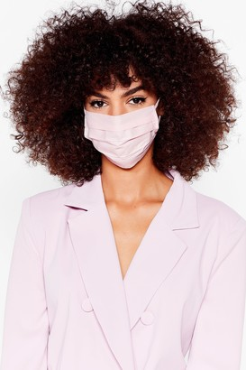 Nasty Gal Womens Pleat Me in the Middle Fashion Face Mask Set - Pink - ONE SIZE, Pink