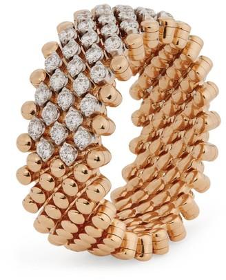 Serafino Consoli Multi-Metal and Diamond Brevetto Ring