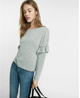 Express ruffle sleeve knit tee