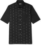 Lanvin - Slim-fit Embroidered Cotton-voile Shirt