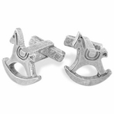Torrini Sterling Silver Rocking Horse Cufflinks