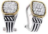 Effy Jewelry Effy 925 Sterling Silver & 18K Yellow Gold Diamond Earrings, 0.30 TCW