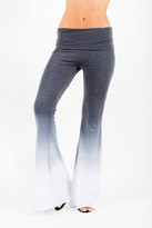 Saint Grace Ashby Foldover Flare Pants In Black Ombre Wash