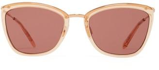 Garrett Leight Louella 51 Square Acetate Sunglasses - Womens - Pink