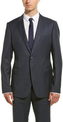 Armani Collezioni 2Pc M Line Wool Suit With Flat Front Pant