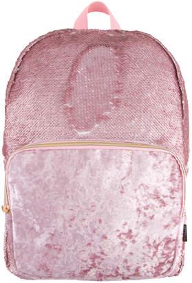 Fashion Angels Magic Sequin Backpack- Pink Glitter/ Velvet Pocket