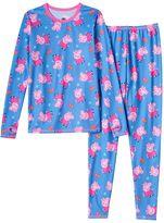 Cuddl Duds Girls 4-8 Peppa Pig Long-Sleeved Tee & Leggings Set