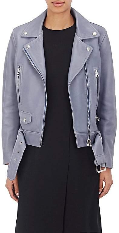 "Acne Studios Women's ""Mock"" Grained Leather Moto Jacket"