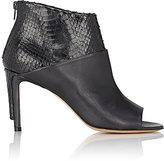 Maison Margiela Women's Peep-Toe Ankle Boots-BLACK