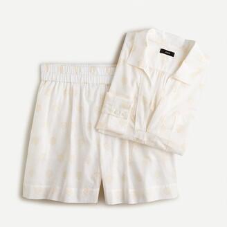 J.Crew Cotton voile beach tunic set in seashell print