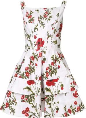 Alexander McQueen Poppyfield print dress