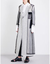 Thom Browne Patchwork double-breasted wool coat