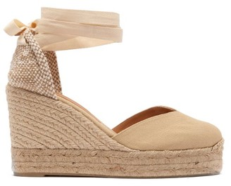 Castaner Chiara 60 Canvas & Jute Espadrille Platform Wedges - Womens - Cream