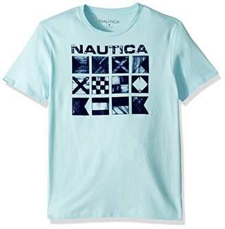 Nautica Men's Big and Tall Short Sleeve Crew Neck Flag Print 100% Cotton T-Shirt