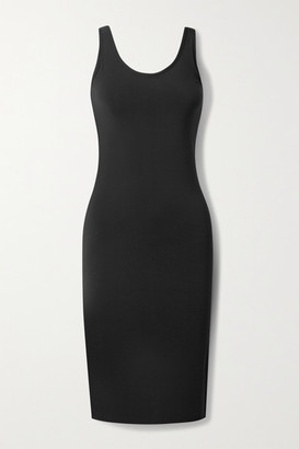Commando Butter Open-back Stretch-modal Midi Dress - Black