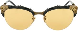Gucci Bamboo Effect Cat Eye Sunglasses