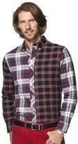 Chaps Men's Pieced Plaid Button-Down Shirt