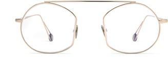 AHLEM Place Des Victoires Optic Grey Gold Glasses