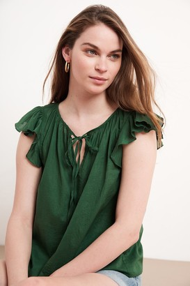 Velvet by Graham & Spencer Theron Ruffle Blouse