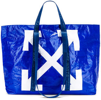 Off-White Off White New Commercial Tote Bag in Blue & White   FWRD