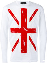 DSQUARED2 Union Jack appliqué T-shirt - men - Cotton - S