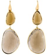 Yvel 18K Smoky Quartz Drop Earrings