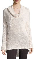 XCVI Diamante-Knit Cotton Sweater, Sugar