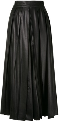 GOEN.J Pleated Midi Flared Skirt