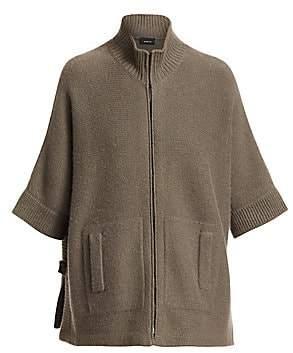 Akris Women's Short-Sleeve Kimono Cashmere Cardigan